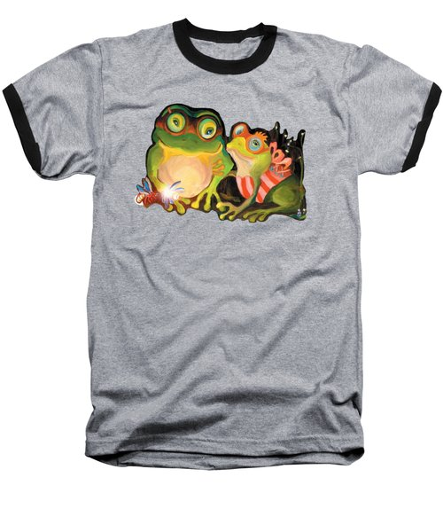 Frogs Overlay  Baseball T-Shirt