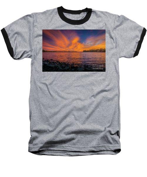 Frontenac Ferry Sunset Baseball T-Shirt