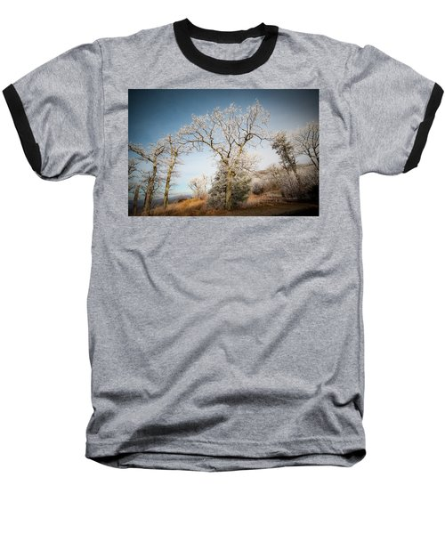 Frost On The Mountain Baseball T-Shirt
