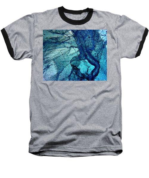 Frozen In Blue Baseball T-Shirt