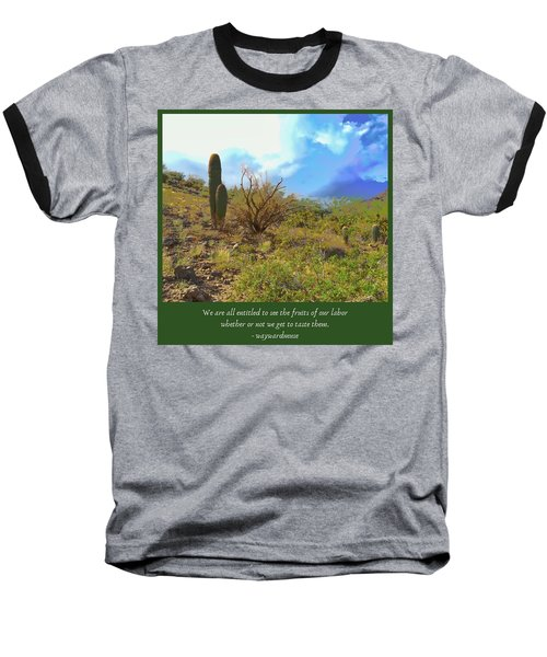 Baseball T-Shirt featuring the photograph Fruits Of Our Labor by Judy Kennedy