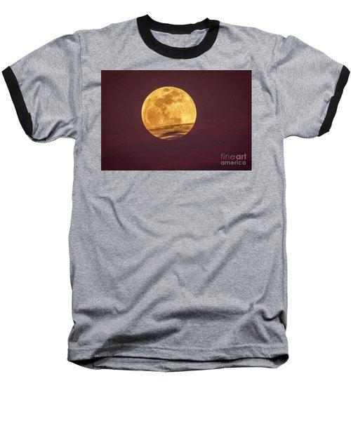 Full Moon Above Clouds Baseball T-Shirt