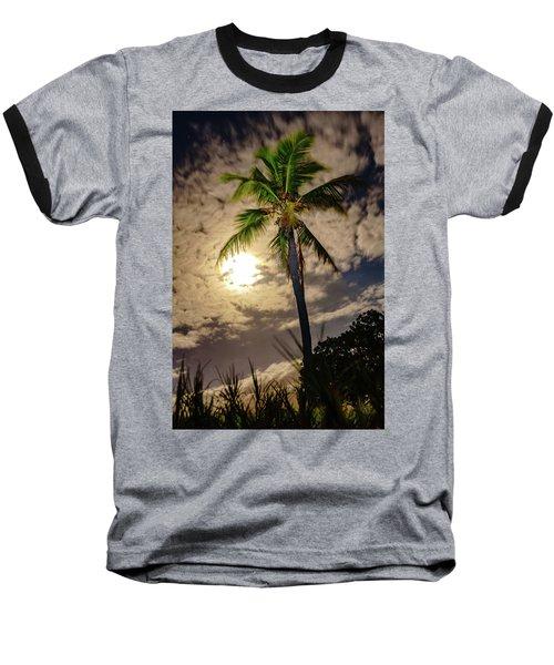 Full Moon Palm Baseball T-Shirt