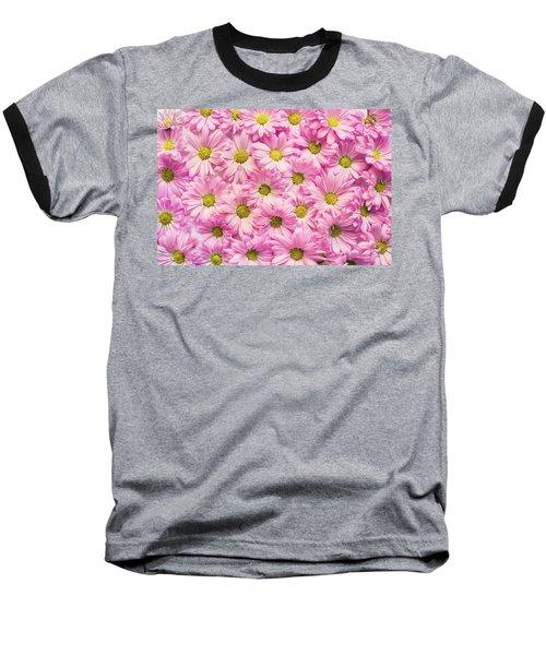 Full Of Pink Flowers Baseball T-Shirt