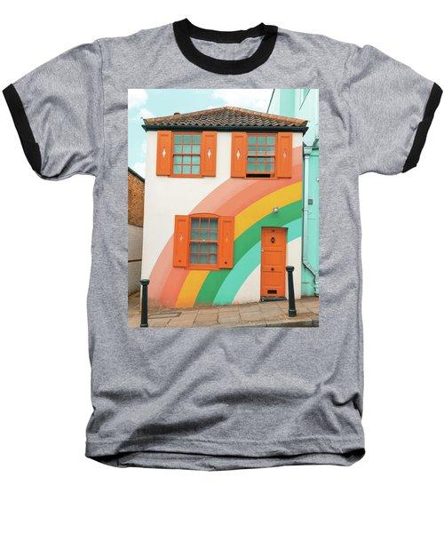 Funky Rainbow House Baseball T-Shirt