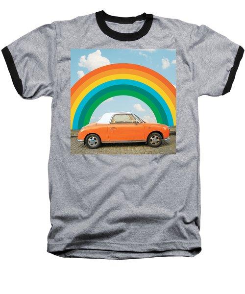 Funky Rainbow Ride Baseball T-Shirt