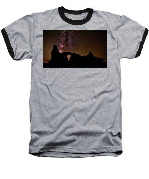 Baseball T-Shirt featuring the photograph Galactic Turret Arch by Andy Crawford