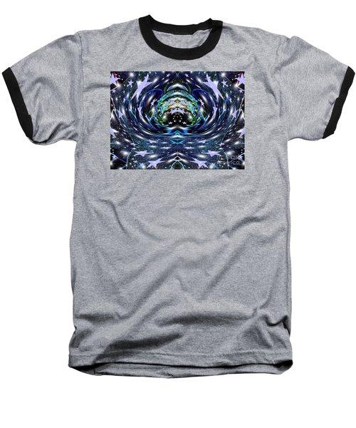 Galactic Wormhole Baseball T-Shirt