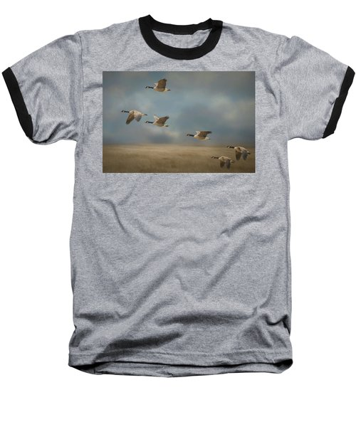 Geese, Coming In For A Landing Baseball T-Shirt