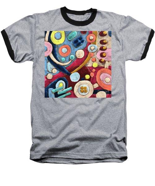 Geometric Abstract 2 Baseball T-Shirt