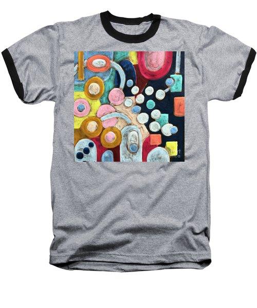 Geometric Abstract 3 Baseball T-Shirt