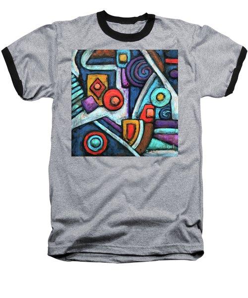 Geometric Abstract 4 Baseball T-Shirt