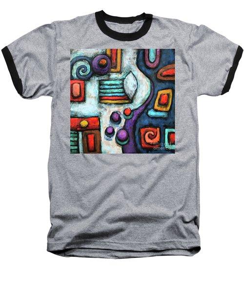 Geometric Abstract 5 Baseball T-Shirt