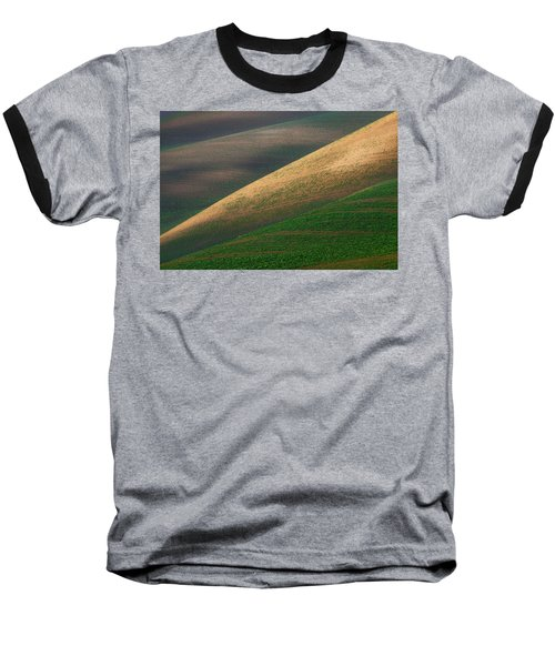Geometric Field Abstract Baseball T-Shirt