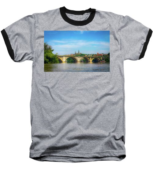 Baseball T-Shirt featuring the photograph Georgetown From The Potomac by Lora J Wilson