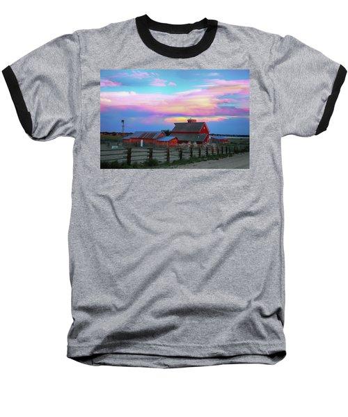 Baseball T-Shirt featuring the photograph Ghost Horses Pastel Sky Timed Stack by James BO Insogna