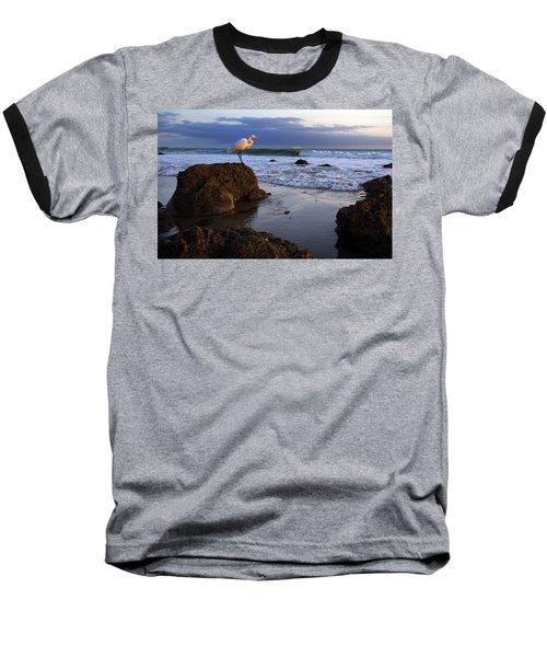 Giant Egret Baseball T-Shirt