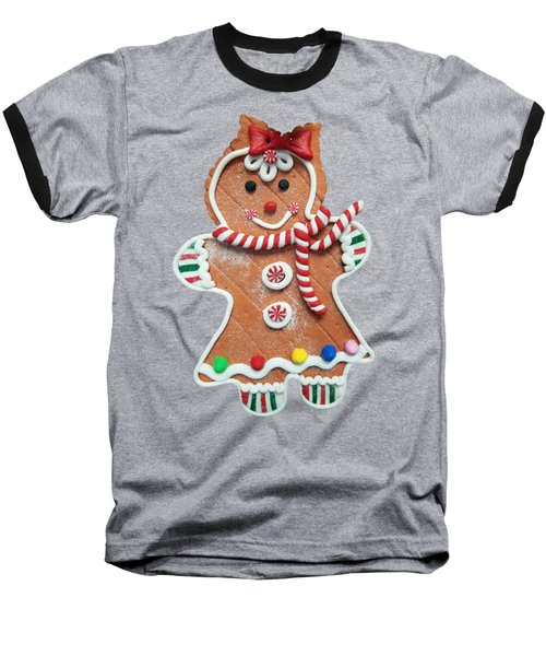 Gingerbread Cookie Girl Baseball T-Shirt