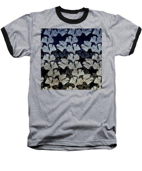 Ginko Leaf Pattern Baseball T-Shirt