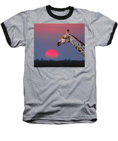 Giraffe Composite Baseball T-Shirt