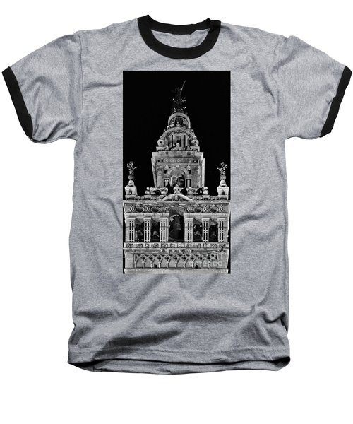 Giralda Tower In Monochrome. Seville Baseball T-Shirt