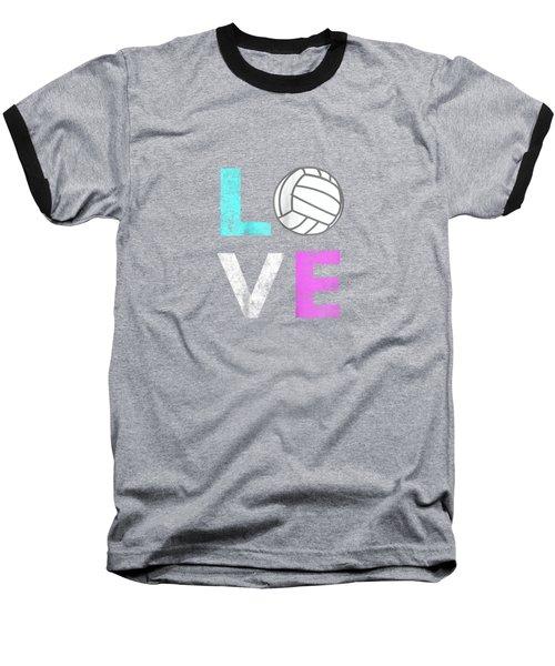 Girls Love Volleyball Best Fun Birthday Gift Tshirt Baseball T-Shirt