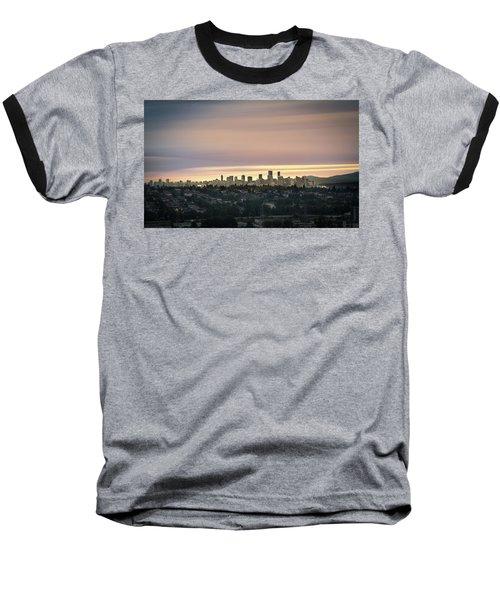 Golden Sky On Vancouver Baseball T-Shirt