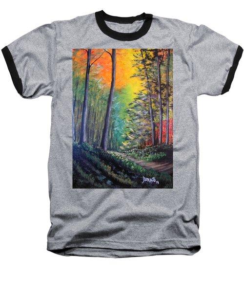 Glowing Forrest Baseball T-Shirt