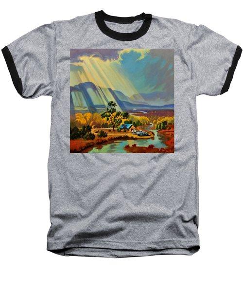God Rays On A Blue Roof Baseball T-Shirt
