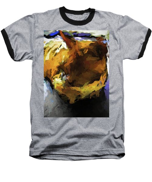 Gold Cat And The Shadow Baseball T-Shirt