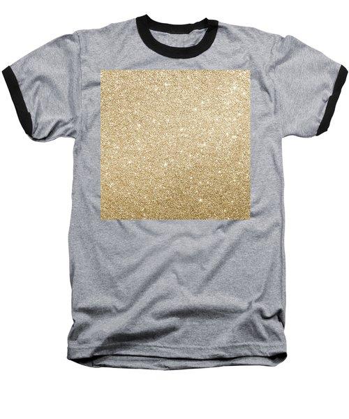Gold Glitter Baseball T-Shirt