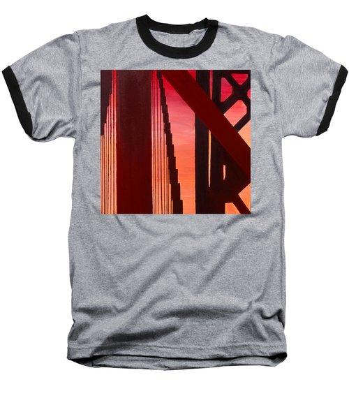 Golden Gate Art Deco Masterpiece Baseball T-Shirt