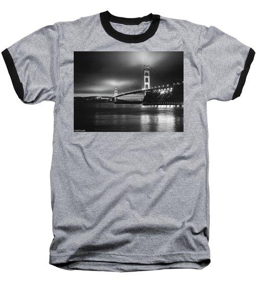 Golden Gate Bridge B/w Baseball T-Shirt