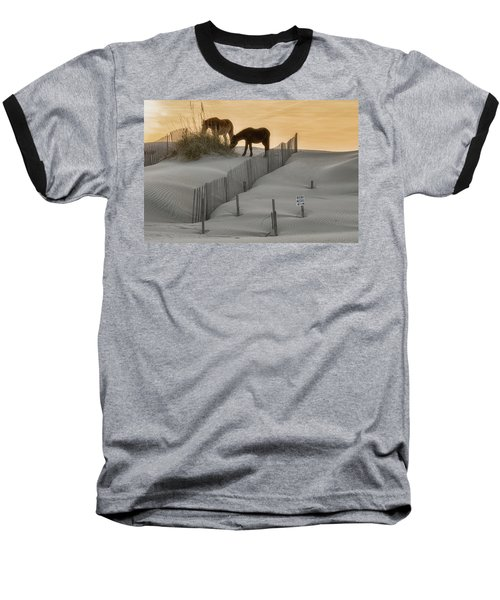 Golden Horses Baseball T-Shirt