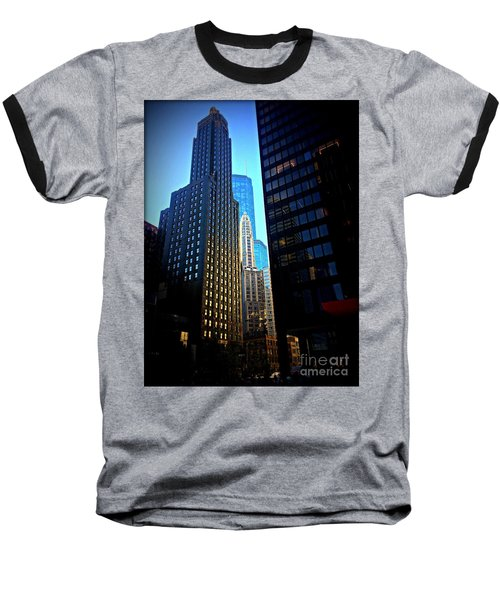 Golden Hour Reflections - City Of Chicago Baseball T-Shirt