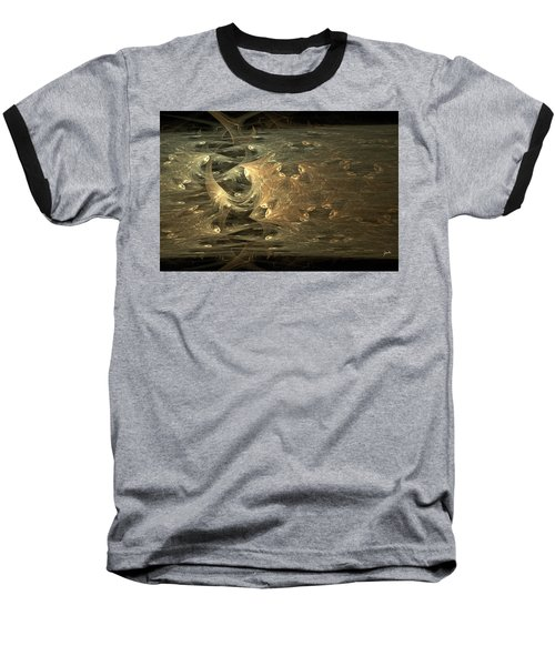 Golden Soul - Modern Abstract Art Baseball T-Shirt