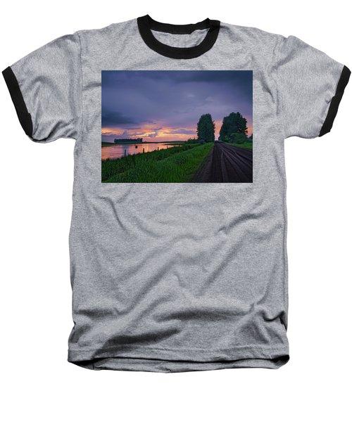 Golden Sunset Near Westlock Baseball T-Shirt