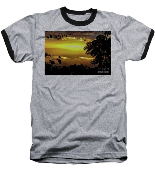 Golden Sunset On Strawberry Hill Baseball T-Shirt