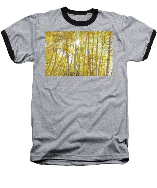 Baseball T-Shirt featuring the photograph Golden Sunshine On An Autumn Day by James BO Insogna