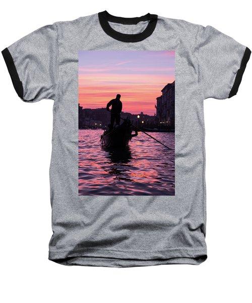 Gondolier At Sunset Baseball T-Shirt
