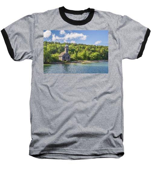 Grand Island East Channel Lighthouse Baseball T-Shirt