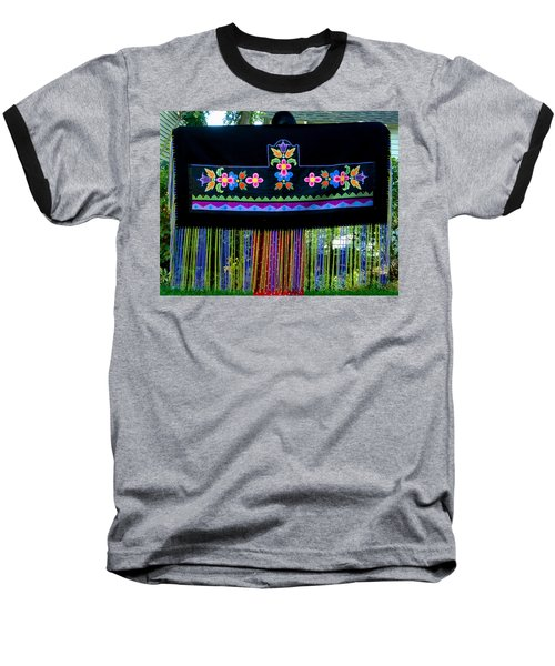 Baseball T-Shirt featuring the tapestry - textile Grand Mothers Garden by Chholing Taha