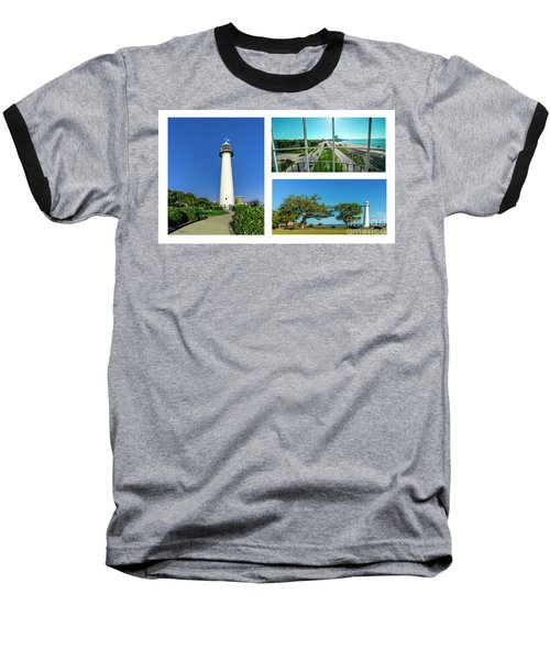 Grand Old Lighthouse Biloxi Ms Collage A1d Baseball T-Shirt