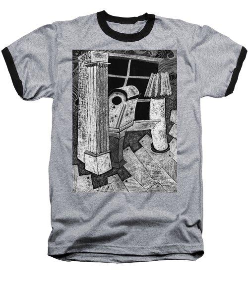 Grandfather Clock Baseball T-Shirt