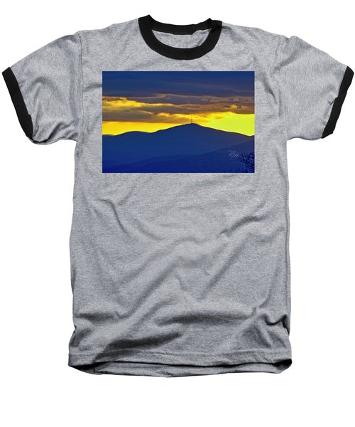 Grandmother Mountain Sunset Baseball T-Shirt