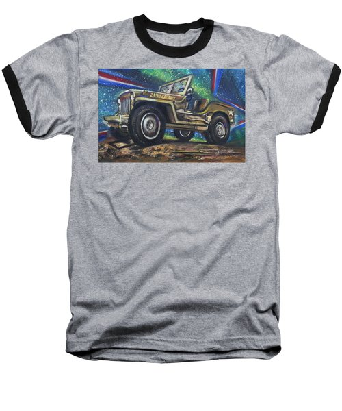 Grandpa Willie's Willys Jeep Baseball T-Shirt