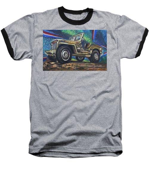 Grandpa Willie's Willys Jeep Baseball T-Shirt