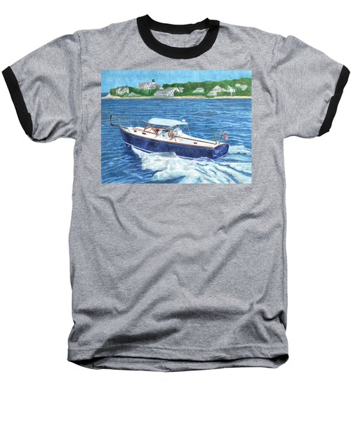 Baseball T-Shirt featuring the painting Great Ackpectations Nantucket by Dominic White
