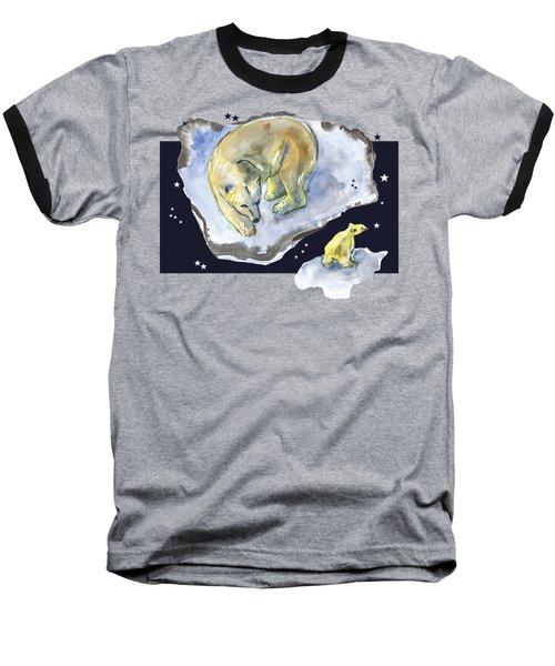 Great Bear Family -  Ursa Major Constellation Baseball T-Shirt