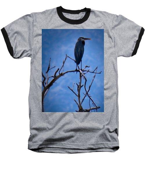 Great Blue Heron 3 Baseball T-Shirt
